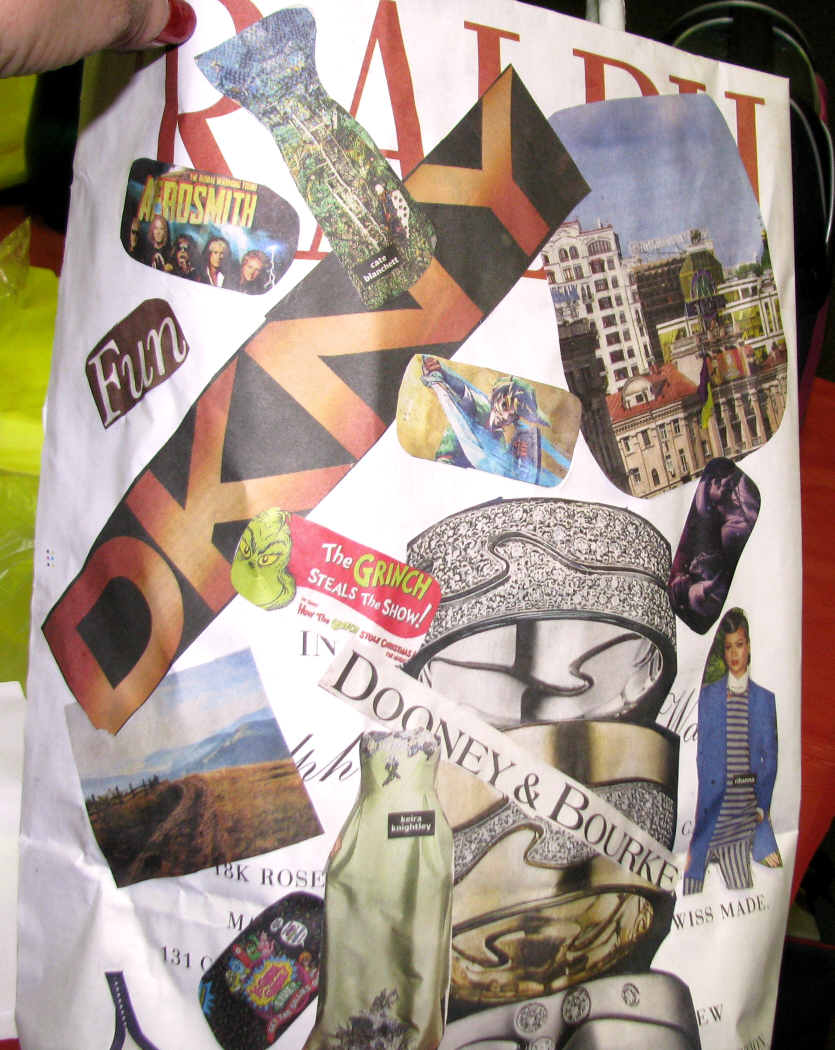 Art Bag Nyc Having Repeaters Students Of Newspaper Bags Class Is Very Good