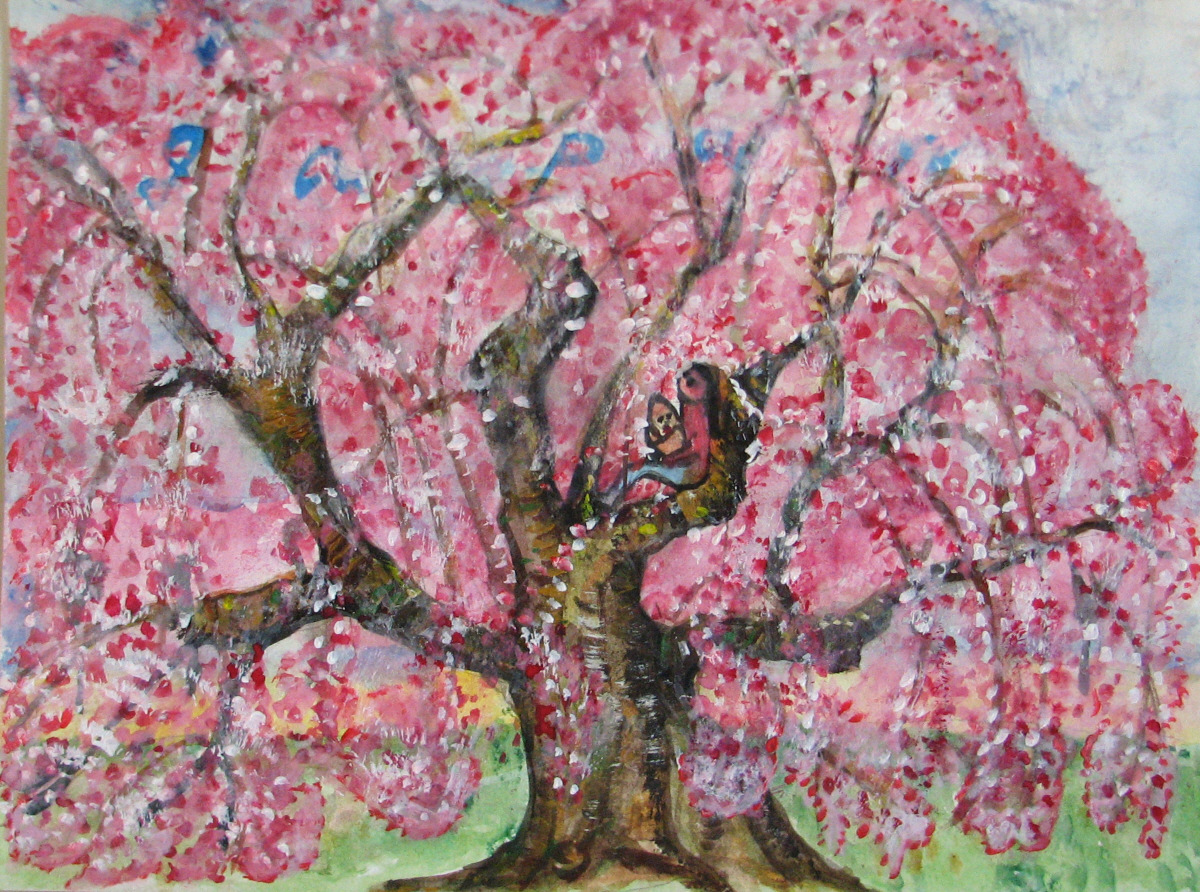 cherry blossom paintings will heal japanese victims from tsunami fresh paint