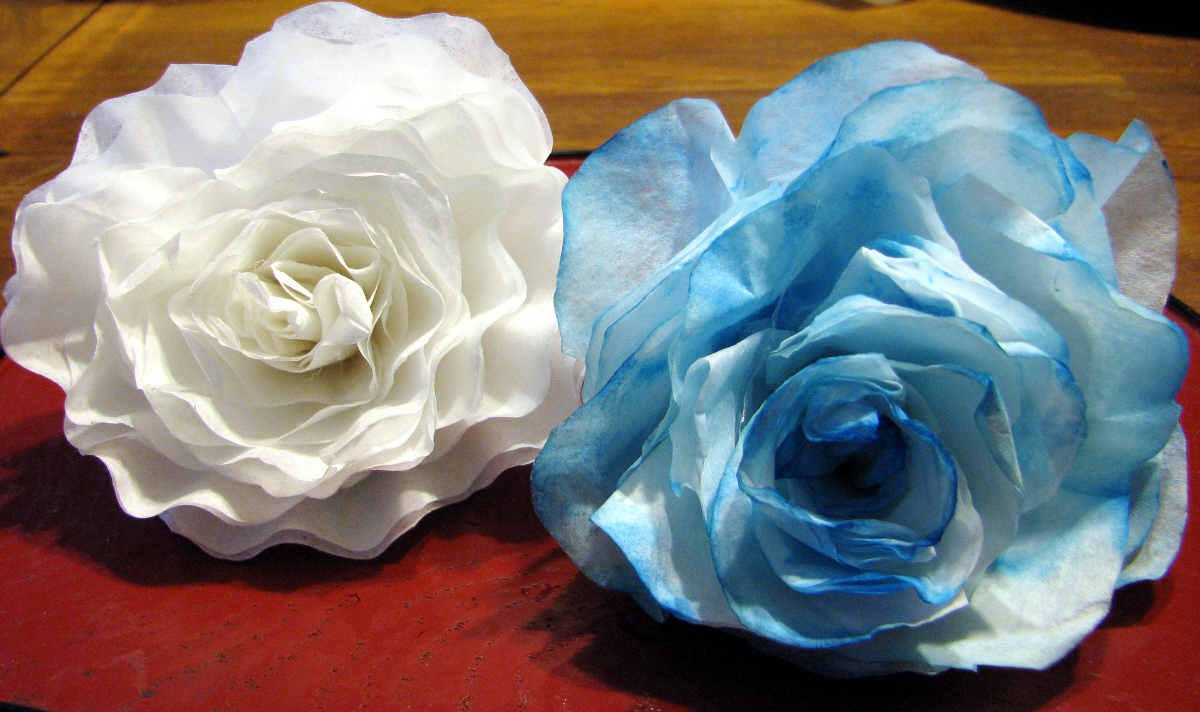 Coffee Filter Roses 2 Fresh Paint