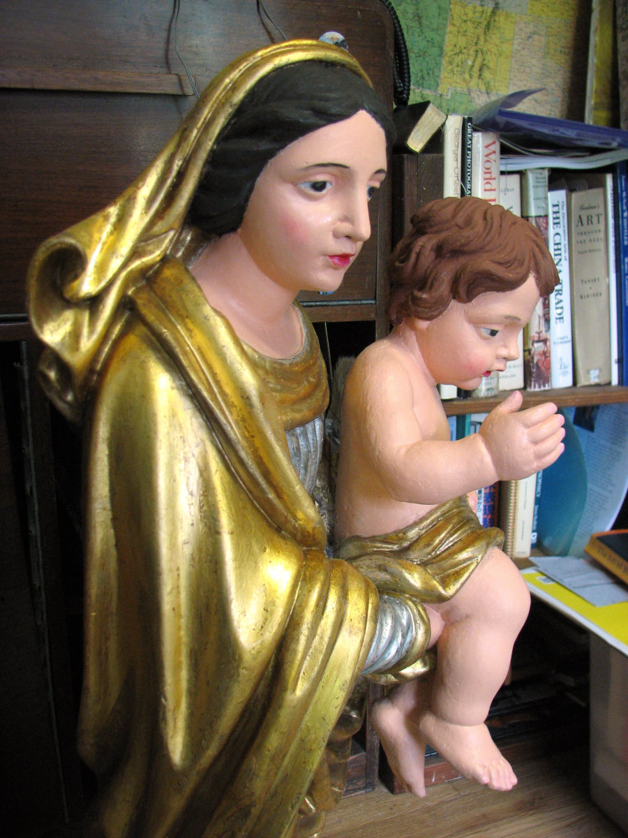restoration of virgin mary and baby jesus statue u2026please take a